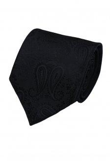 Cravata matase clasica negru cu model marca Grazie Filipeti