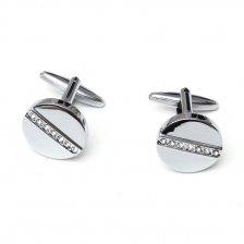 Butoni eleganti pentru camasa cu pietre albe