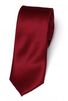Cravata matase Slim bordeaux Grazie Filipeti