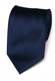 Cravata matase clasica bleumarin uni Grazie Filipeti