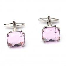 Butoni pentru camasa cu cristale roz
