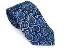 Cravata clasica albastra cu model Paisley - Grazie Filipeti