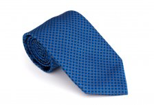 Cravata clasica albastra cu picouri - Grazie Filipeti
