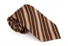Cravata clasica maro cu dungi - Grazie Filipeti