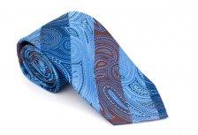 Cravata clasica bleu cu model Paisley - Grazie Filipeti