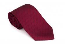 Cravata clasica bordeaux cu buline albastre - Grazie Filipeti