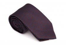 Cravata neagra cu romburi rosii si bleu - Grazie Filipeti