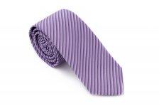 Cravata matase slim mov cu dungi Grazie Filipeti