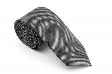 Cravata slim neagra cu picouri albe Grazie Filipeti