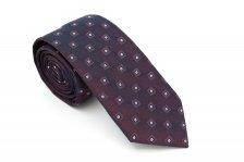 Cravata slim violet cu model in patratele Grazie Filipeti