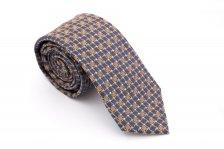 Cravata slim cu patratele bej si mov Grazie Filipeti