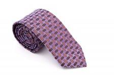 Cravata slim mov coffee print Grazie Filipeti