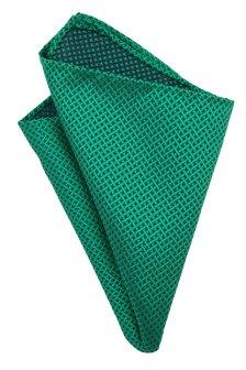 Batista de buzunar verde smarald cu model imprimat impletit Grazie Filipeti
