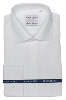 Camasa alba Slim Fit mother of pearl cu dungi Grazie Filipeti