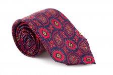 Cravata albastra Paisley