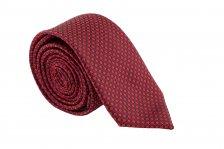 Cravata Slim rosie cu patratele negre