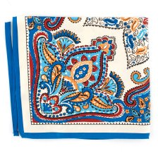 Batista de buzunar White and Blue Paisley