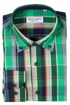 Camasa Slim Fit Verde in carouri