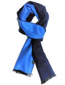 Fular casmir bleumarin si albastru electric