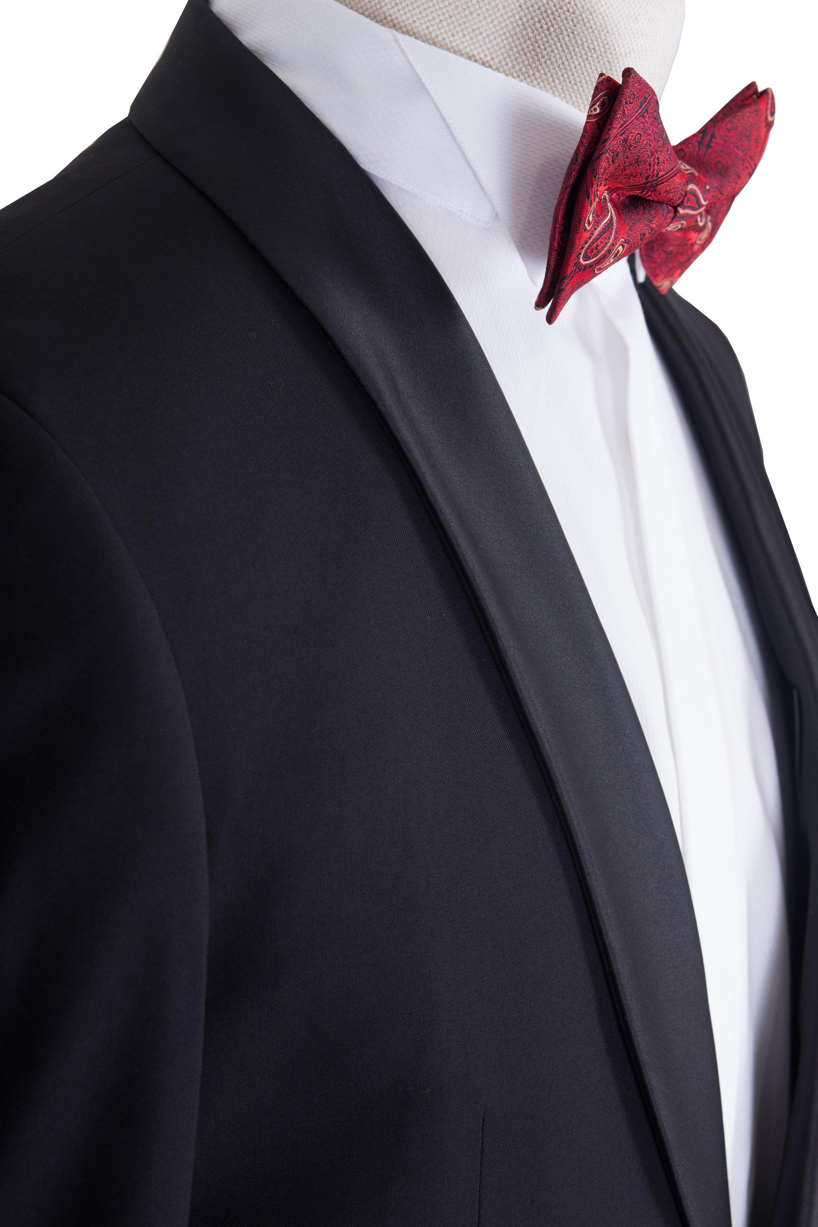 Smoking barbati negru uni cu guler sal marca Grazie Filipeti